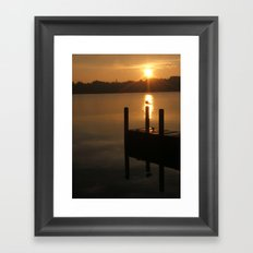 ...and let there now be light. Framed Art Print