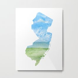 New Jersey Home State Metal Print