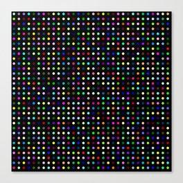 Big Hirst Polka Dot Black Canvas Print