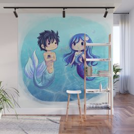 Gray and Juvia Mermaids Wall Mural