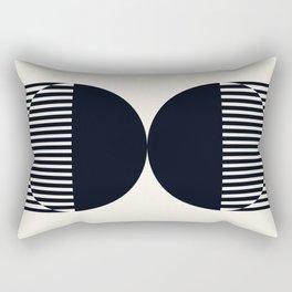 Abstraction_NEW_SUN_DOUBLE_BLACK_LINE_ART_Minimalism_014BB Rectangular Pillow