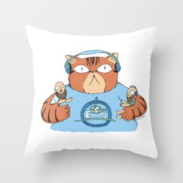 Angus the cat Throw Pillow