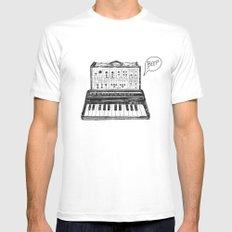 Keyboard.  White MEDIUM Mens Fitted Tee