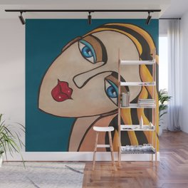 Portrait of a Blonde Woman Wall Mural