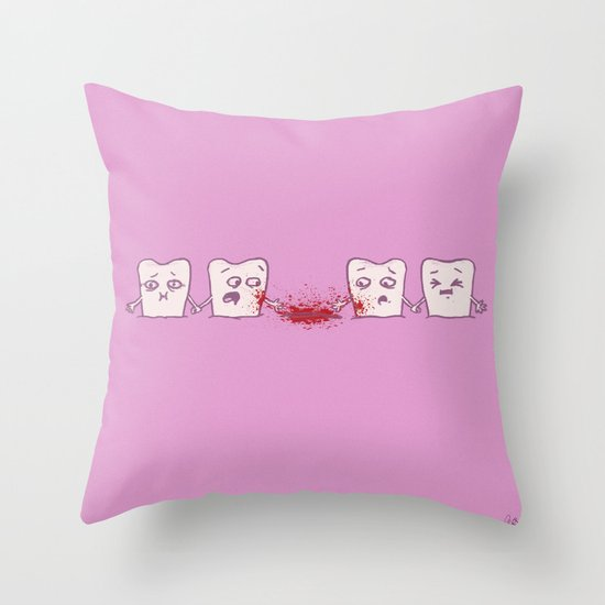 Red Rover, Game Over Throw Pillow