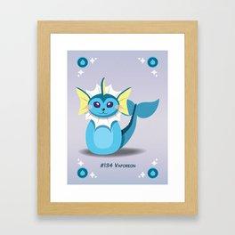 Evolution Bobbles - Vaporeon Framed Art Print