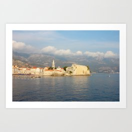 Old Town Budva In Montenegro Art Print