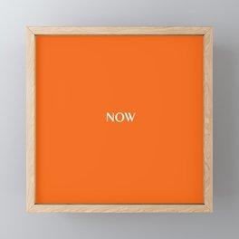 Now ORANGE TIGER solid color Framed Mini Art Print
