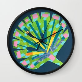 Fan Leaf Wall Clock