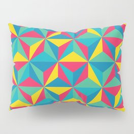 Psychedelic Triangles Pillow Sham