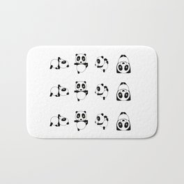 Panda practicing Yoga Bath Mat