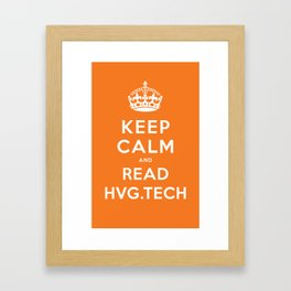 Keep calm and read HVG.tech Framed Art Print
