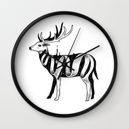 Lost in Its Own Existence (Deer) Wall Clock