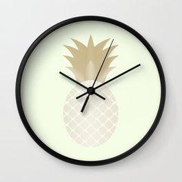 The Metallic Pineapple Wall Clock