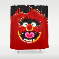 animal crew Shower Curtains featuring Animal by DisPrints
