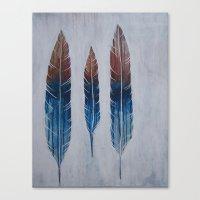 running Canvas Prints featuring Running by Brianna Gosselin