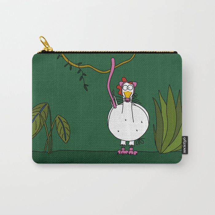 Eglantine la poule (the hen) dressed up as a pink panther Carry-All Pouch