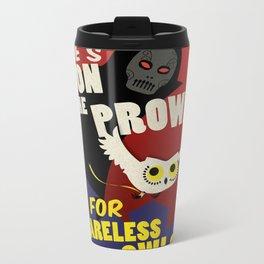 Careless Owls Metal Travel Mug
