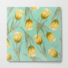 Tulipa pattern 3.2 Metal Print