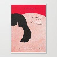 amelie Canvas Prints featuring Amelie by A Deniz Akerman
