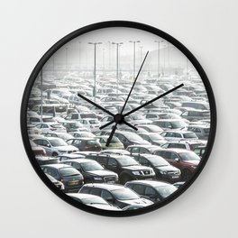 Sea of Cars Wall Clock