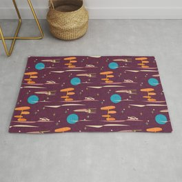 Vintage Travel Purple Rug