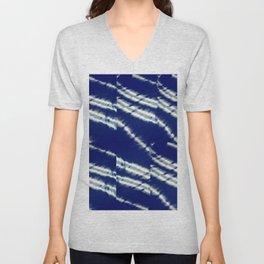blue tie dye Unisex V-Neck