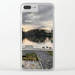 Enjoy an Early Morning Seat at the Duck Pond Clear iPhone Case
