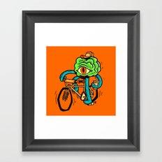 Stranger Brain Thing Framed Art Print