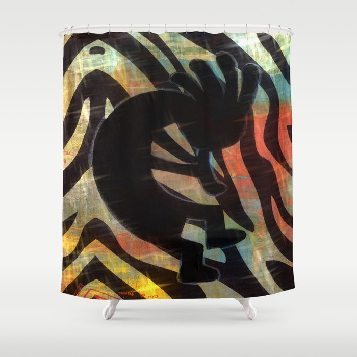 Kokopelli Shower Curtain By Judyskowron