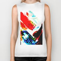 hipster Biker Tanks featuring Hipster  by mcmerriweather