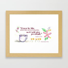 I Will Give You Rest Framed Art Print