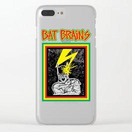 Bat Brains Clear iPhone Case