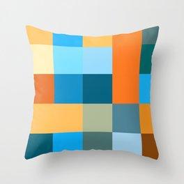 Squares III Throw Pillow