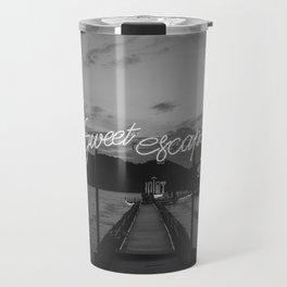 Sweet Escape (Black and White) Travel Mug