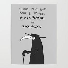 black friday vs black plague Poster