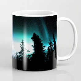 Aurora Borealis Forest Coffee Mug