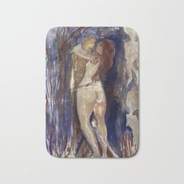 Death and Life by Edvard Munch Bath Mat