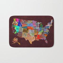 USA Map Bath Mat