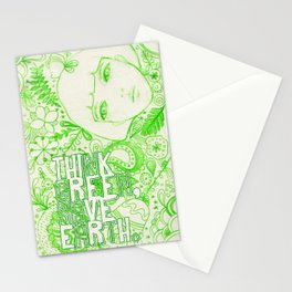 Think Green, Save Earth Stationery Cards