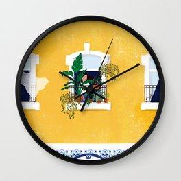 Lisbon girl Wall Clock