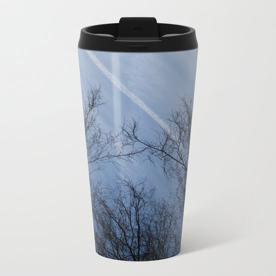 Landscape in the winter Metal Travel Mug