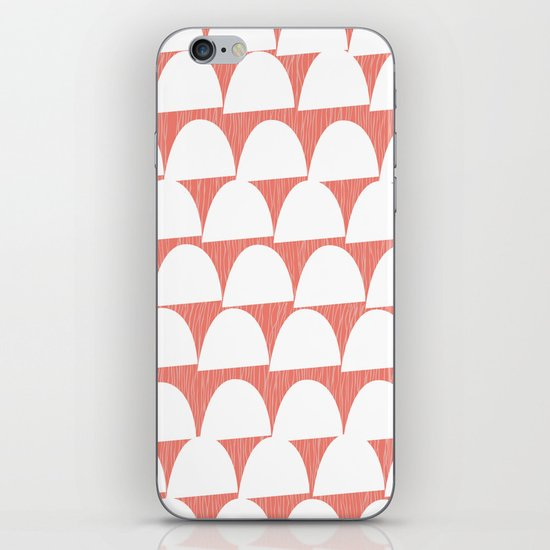 Shroom reverse coral iPhone & iPod Skin