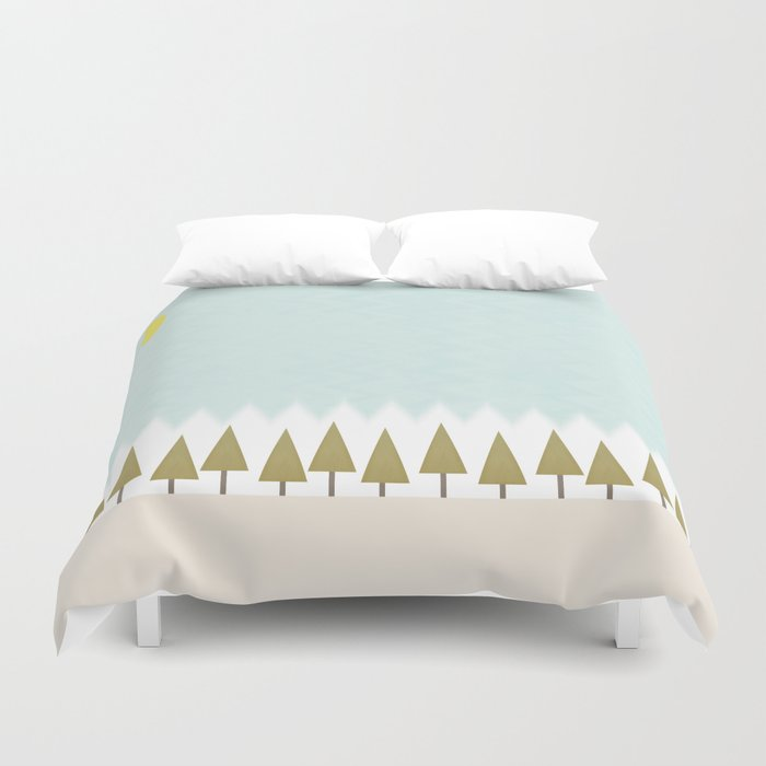 The Forest in Winter Duvet Cover