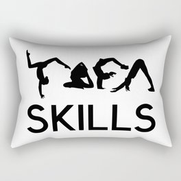 yoga skills Rectangular Pillow