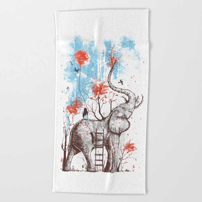 A Happy Place Beach Towel