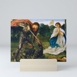 St George kills the dragon VI by Edward Burne-Jones. Mini Art Print