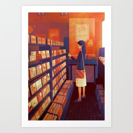 record shop Art Print