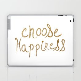 Choose Happiness Gold Edition Laptop & iPad Skin