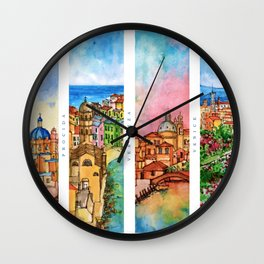 Colors of Italy Wall Clock
